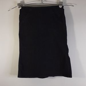 Bisou Bisou Michele Bohbot Black Jean Skirt Size 4